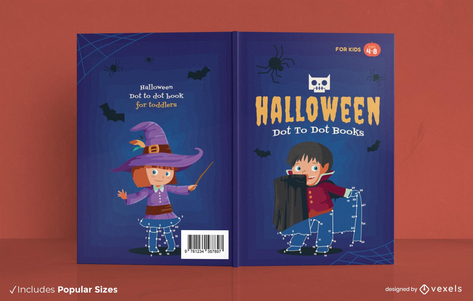 Dise?o de portada de libro de disfraces de halloween para ni?os