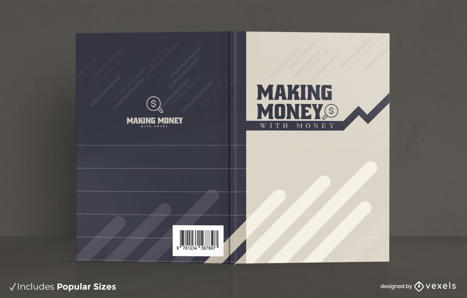 Money graphic line book cover design