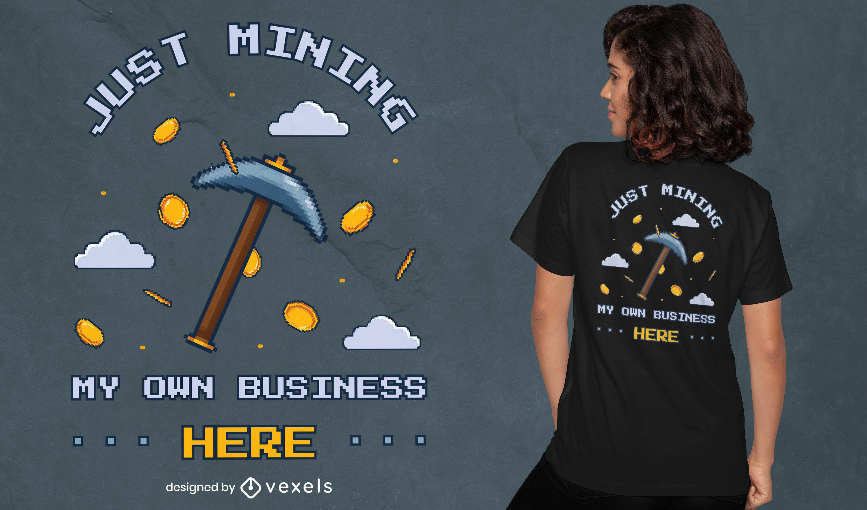 Minerando meu design de camisetas empresariais