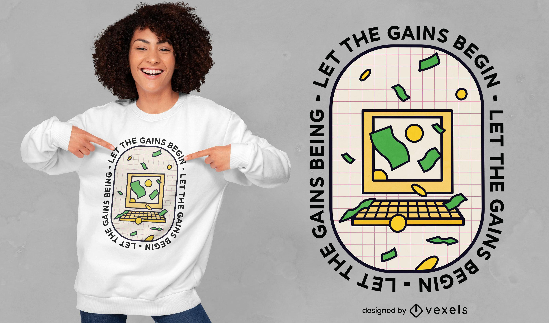 Design de camiseta com citação de criptomoeda