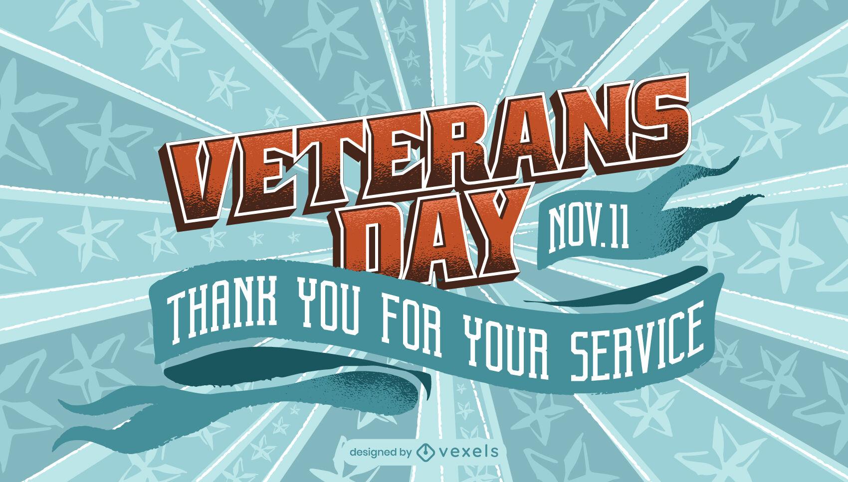 Controle deslizante de feriado americano do Dia dos Veteranos