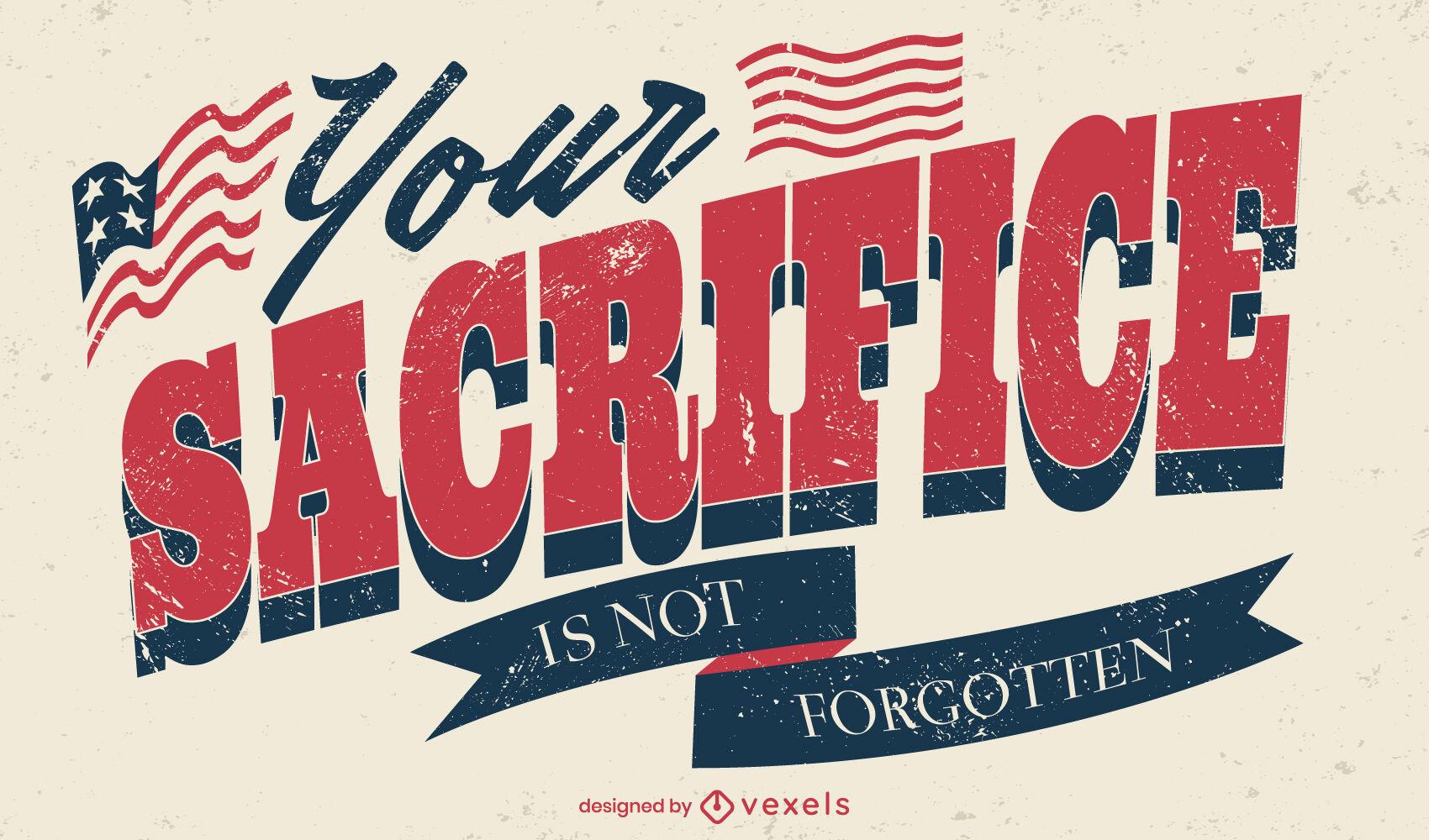 Controle deslizante vintage feriado americano do dia dos veteranos