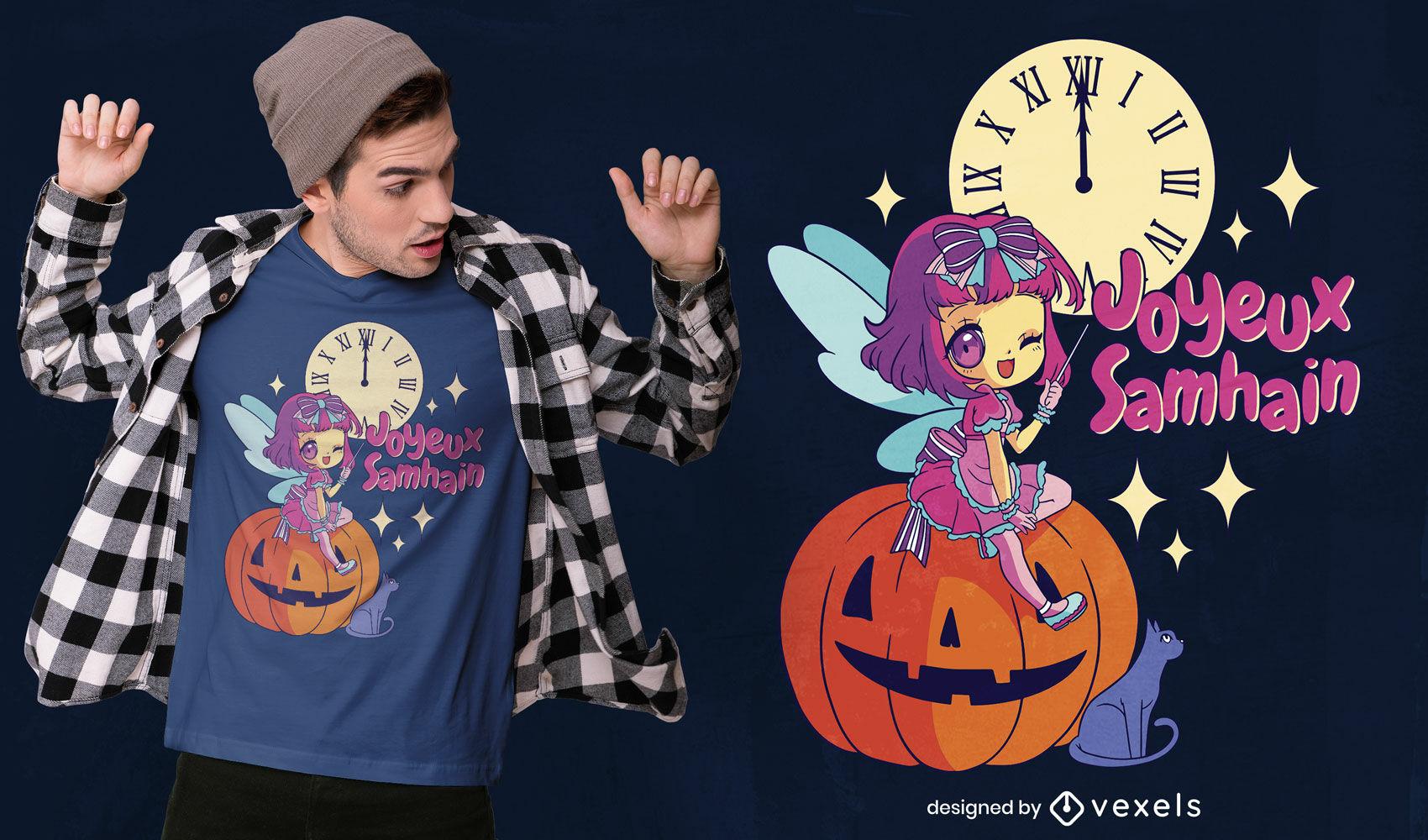 Chibi fairy godmother t-shirt design