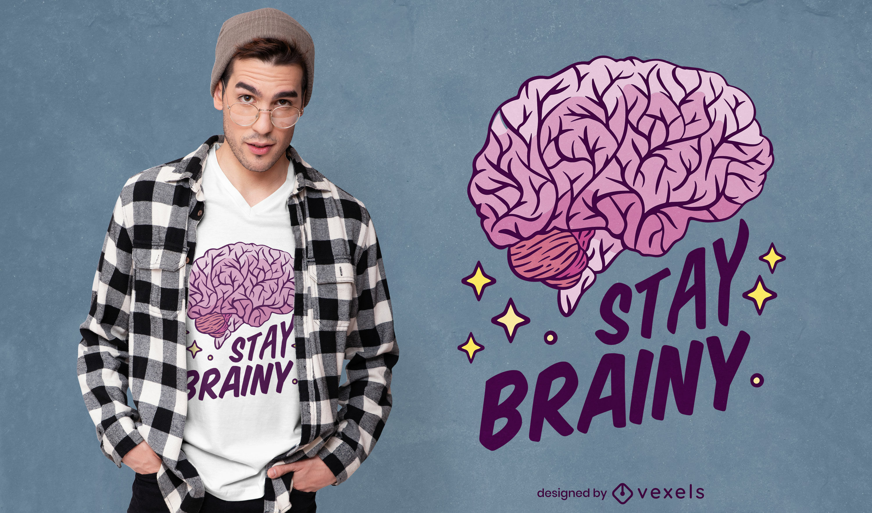 Smart brain quote t-shirt design