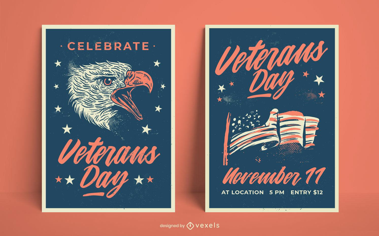 Modelo de p?ster de feriado do dia dos veteranos