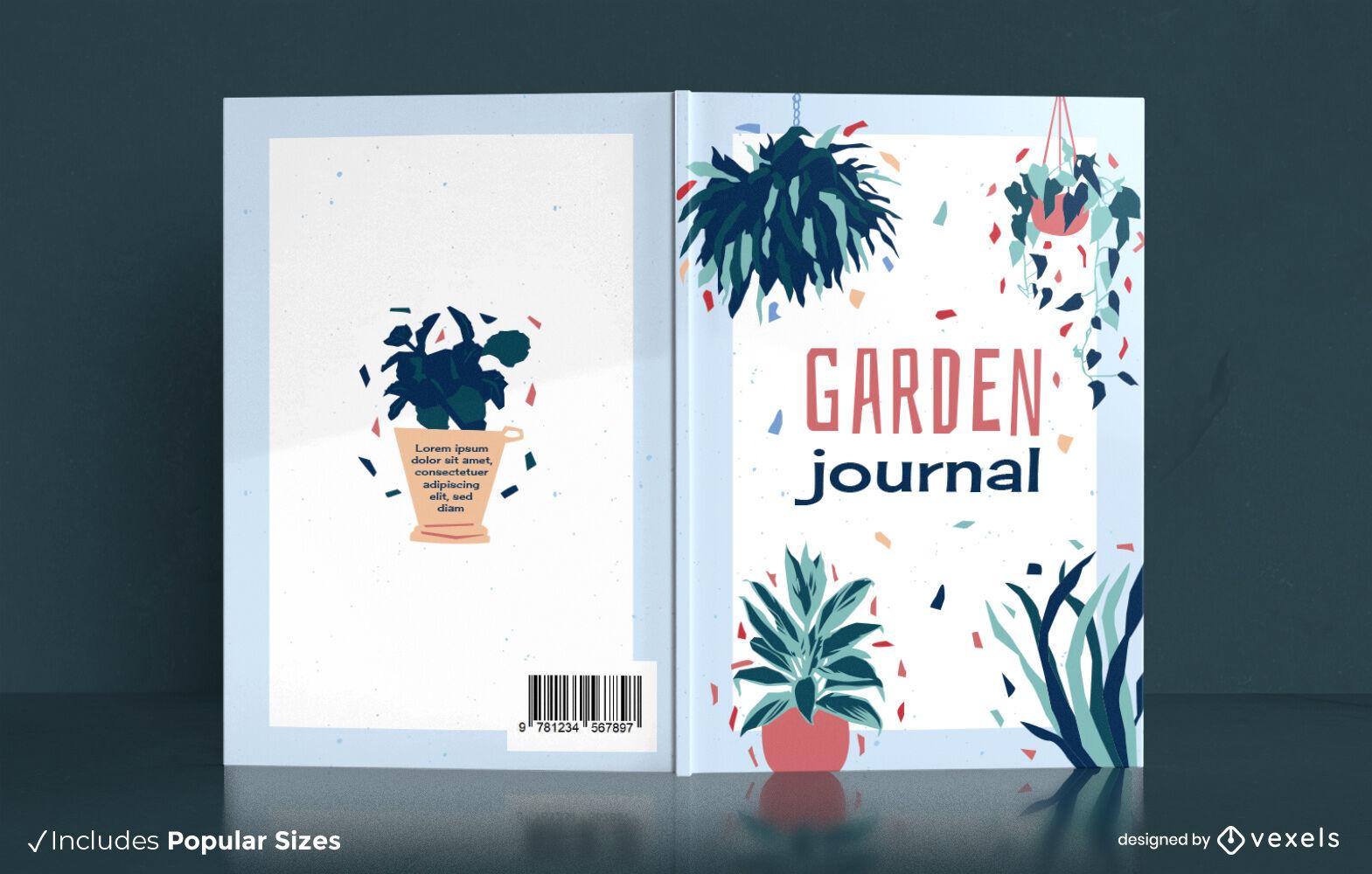 Dise?o de portada de libro de naturaleza de jard?n de plantas de interior