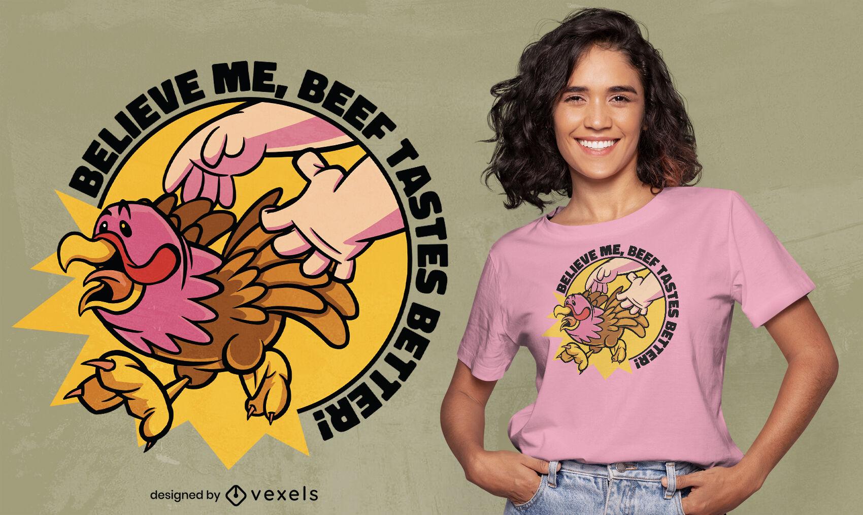 Diseño de camiseta de pavo de acción de gracias corriendo