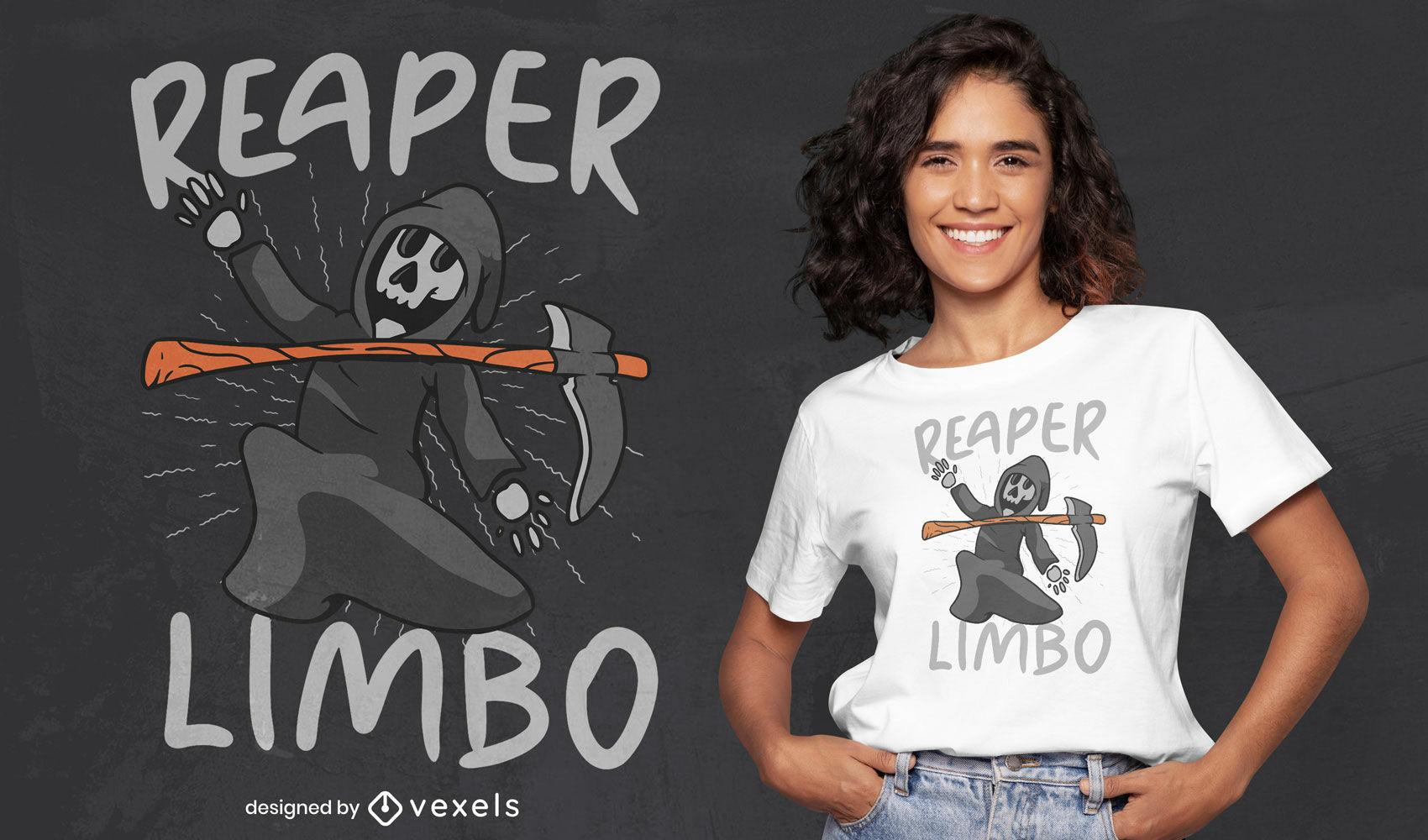 Design de camiseta limbo do Death Grim Reaper