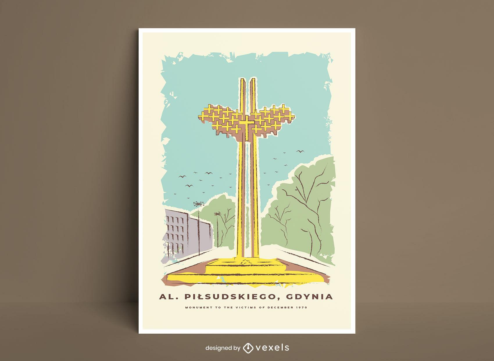 Christliches Denkmalplakatdesign