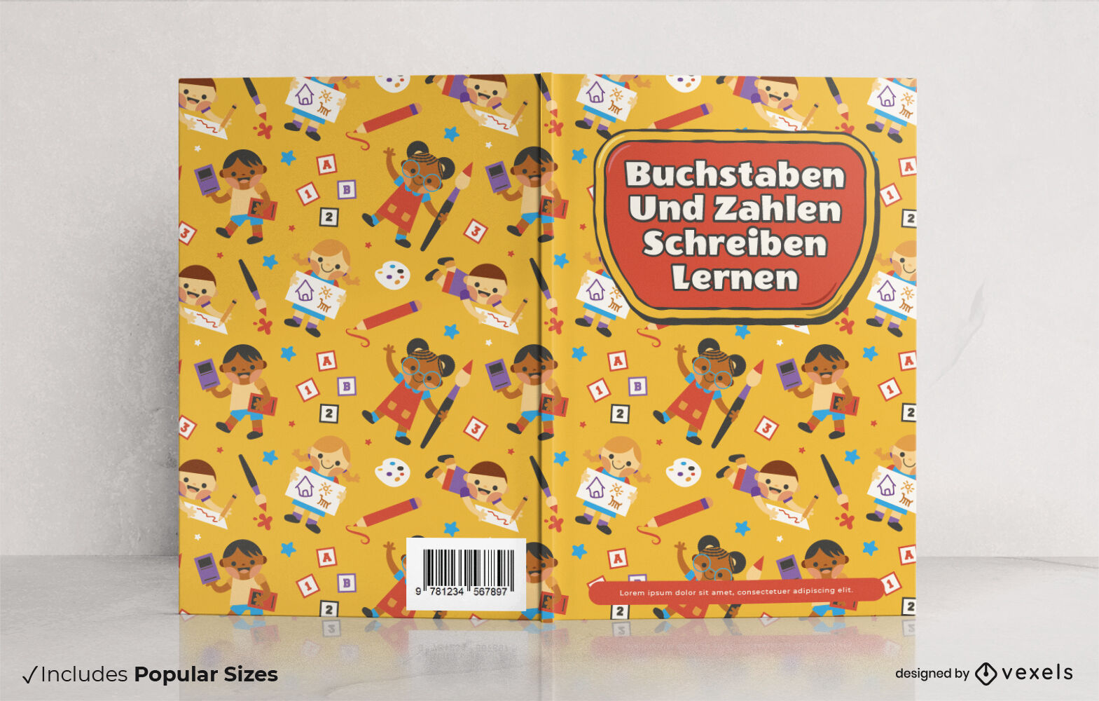 Great learning German book cover design