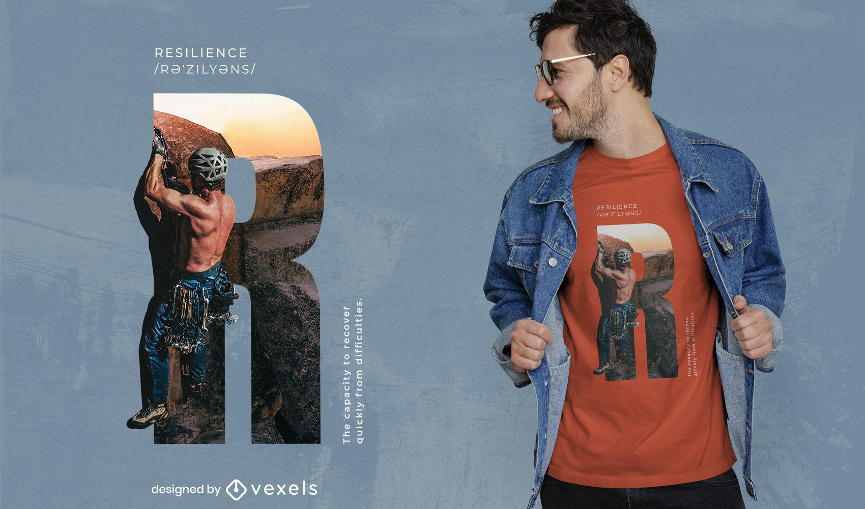 Camiseta psd de escalada en roca de resistencia