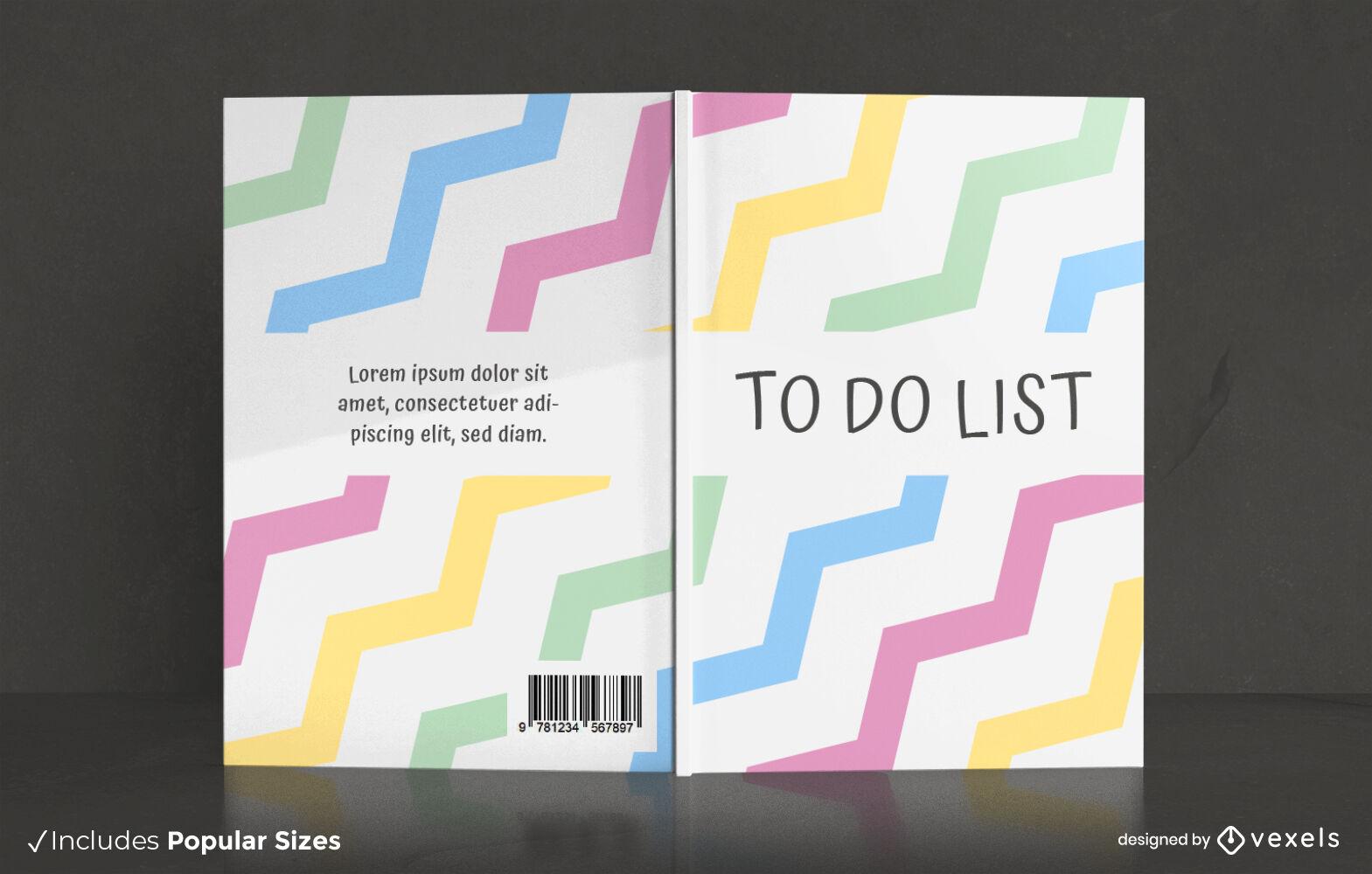 Excelente dise?o de portada de libro de lista de tareas