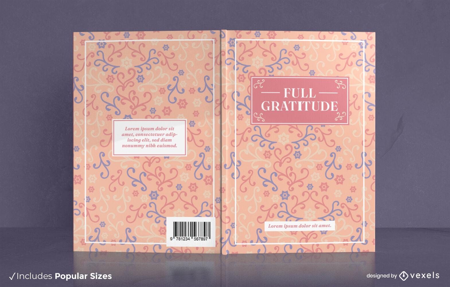 Precioso dise?o de portada de libro de diario de gratitud