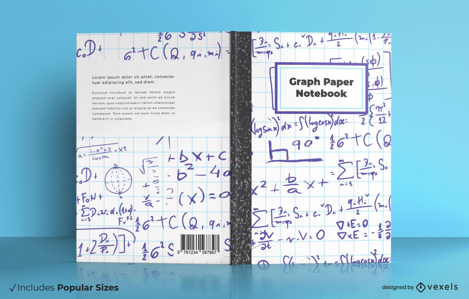 Cool graph paper book cover design