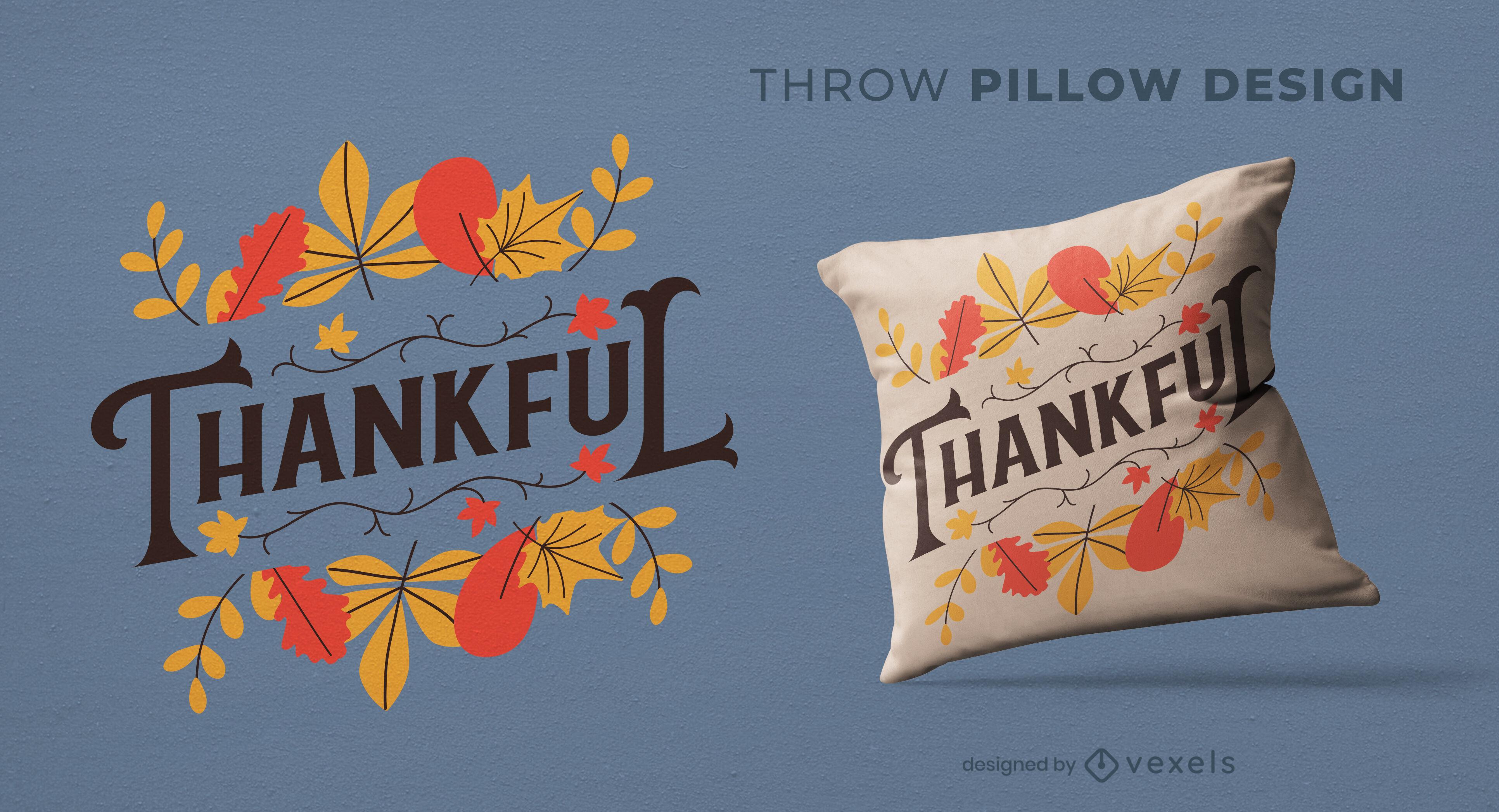 Design de almofadas naturais de folhas de outono