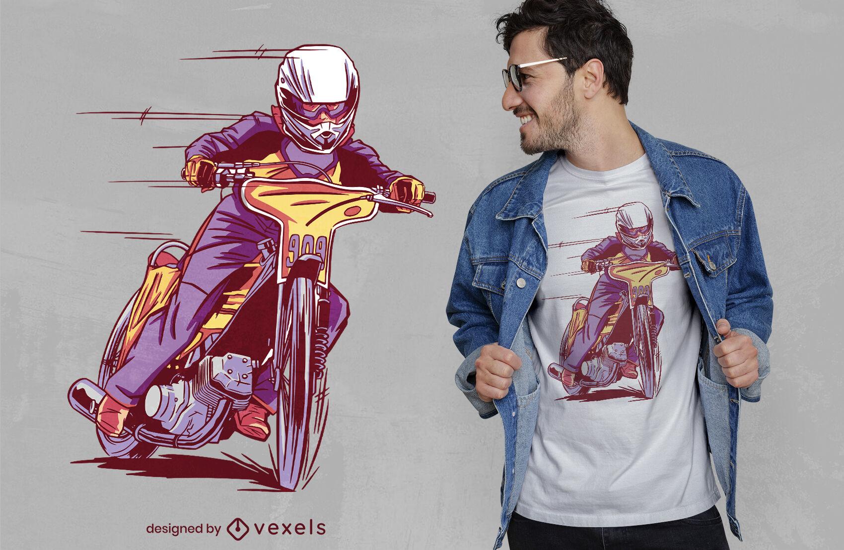 Diseño de camiseta de transporte de motociclista.