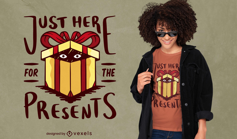 Christmas holiday present t-shirt design