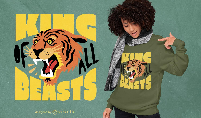 Tiger beast t-shirt design