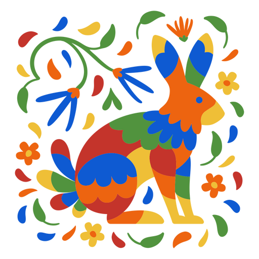 Day of the dead rabbit flat