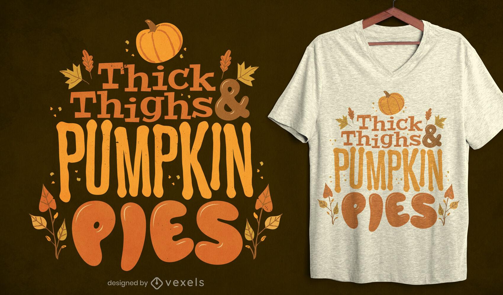 Dise?o de camiseta de cita de halloween de tartas de calabaza