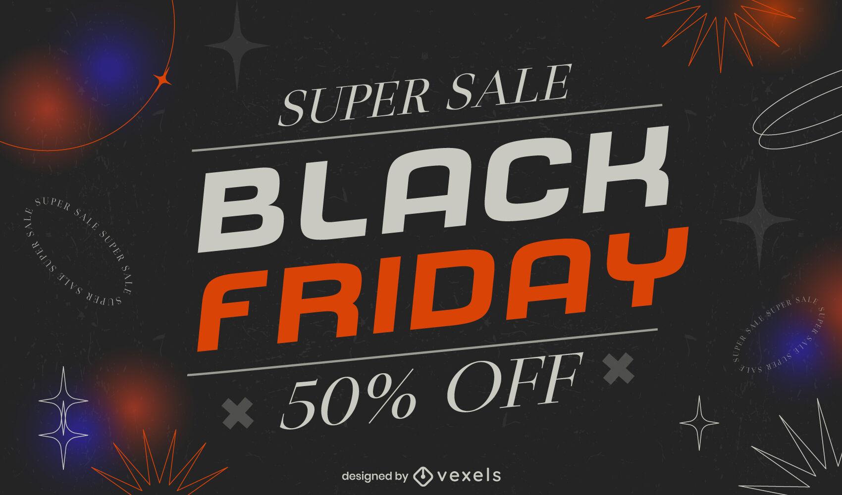 Black friday sale promotion slider