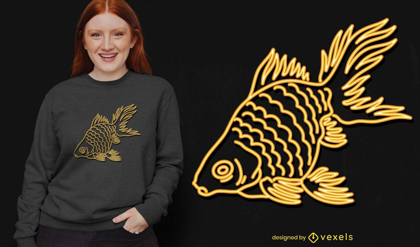 Tra?o de peixinho dourado de n?on incr?vel