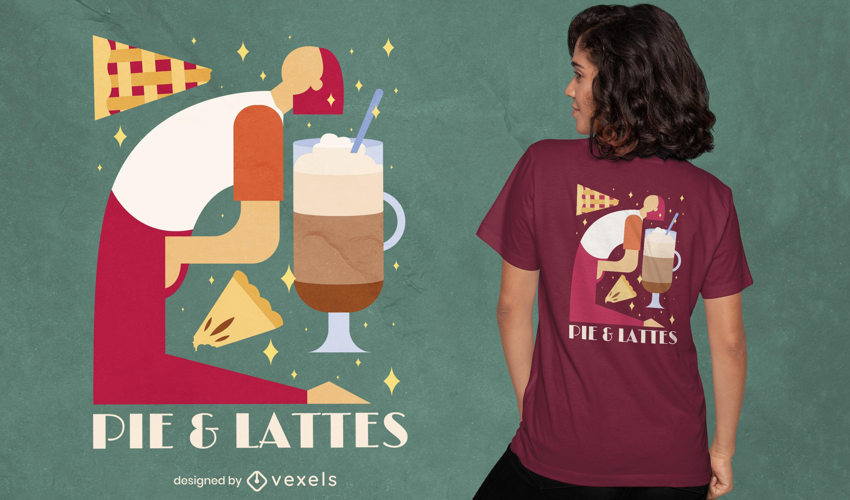 Diseño de camiseta Coffie and Pie Pilates.