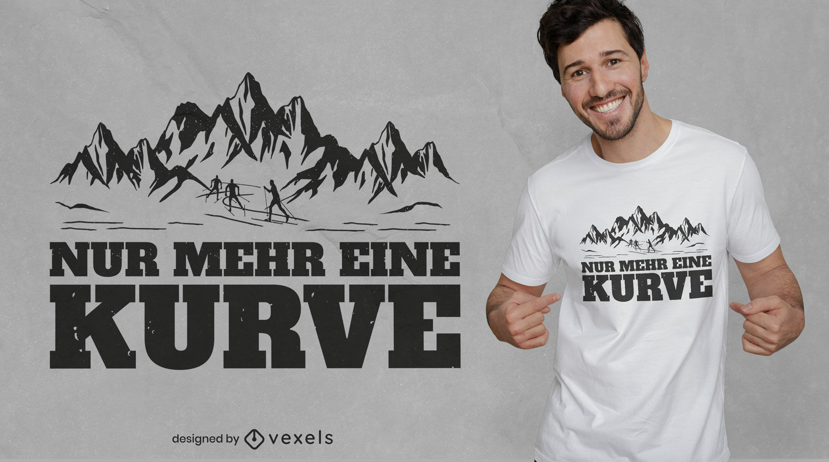 REQUEST Mountain quote t-shirt design