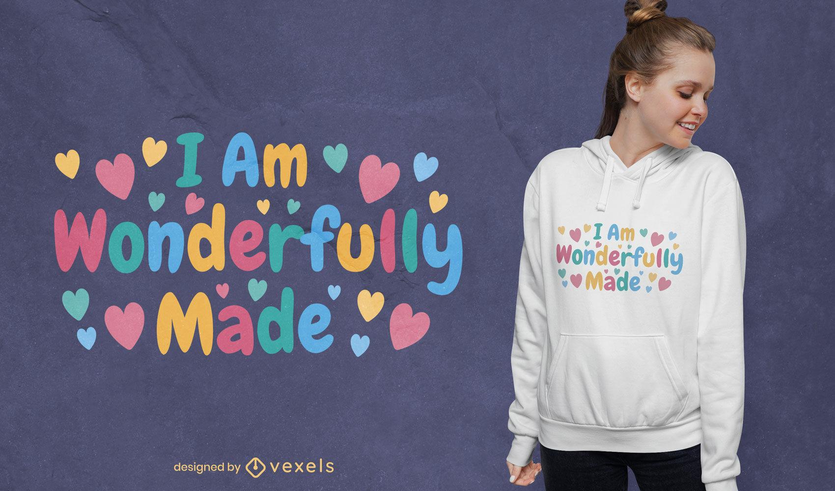 Precioso dise?o de camiseta maravillosamente hecho