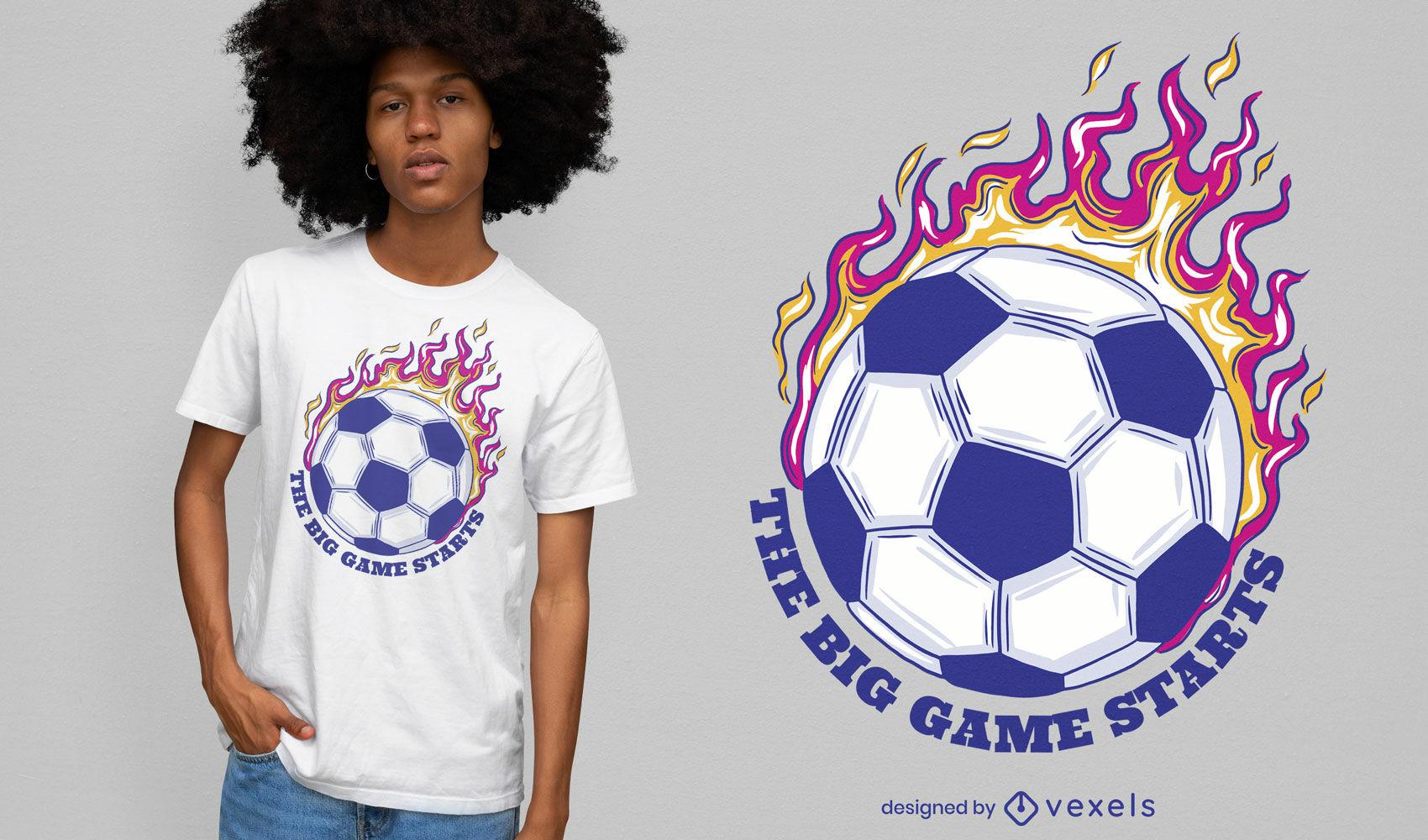Cool soccer t-shirt design
