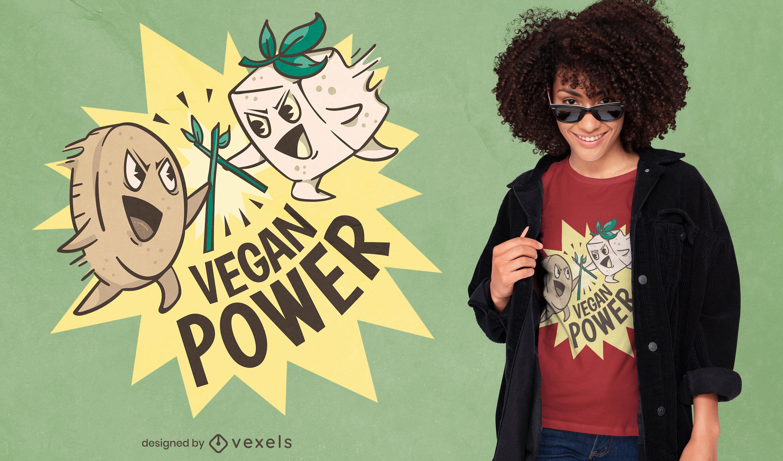 Cooles veganes Power T-Shirt Design