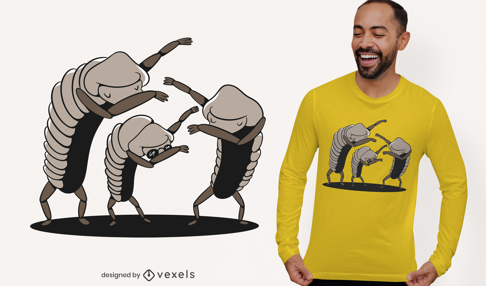 ANFRAGE Bugs betupfendes T-Shirt-Design