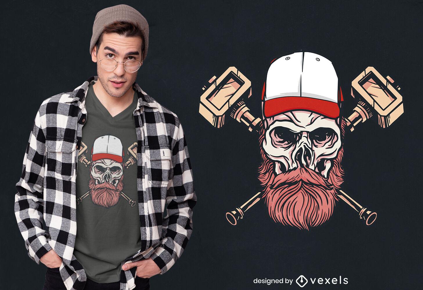 Cool skull t-shirt design