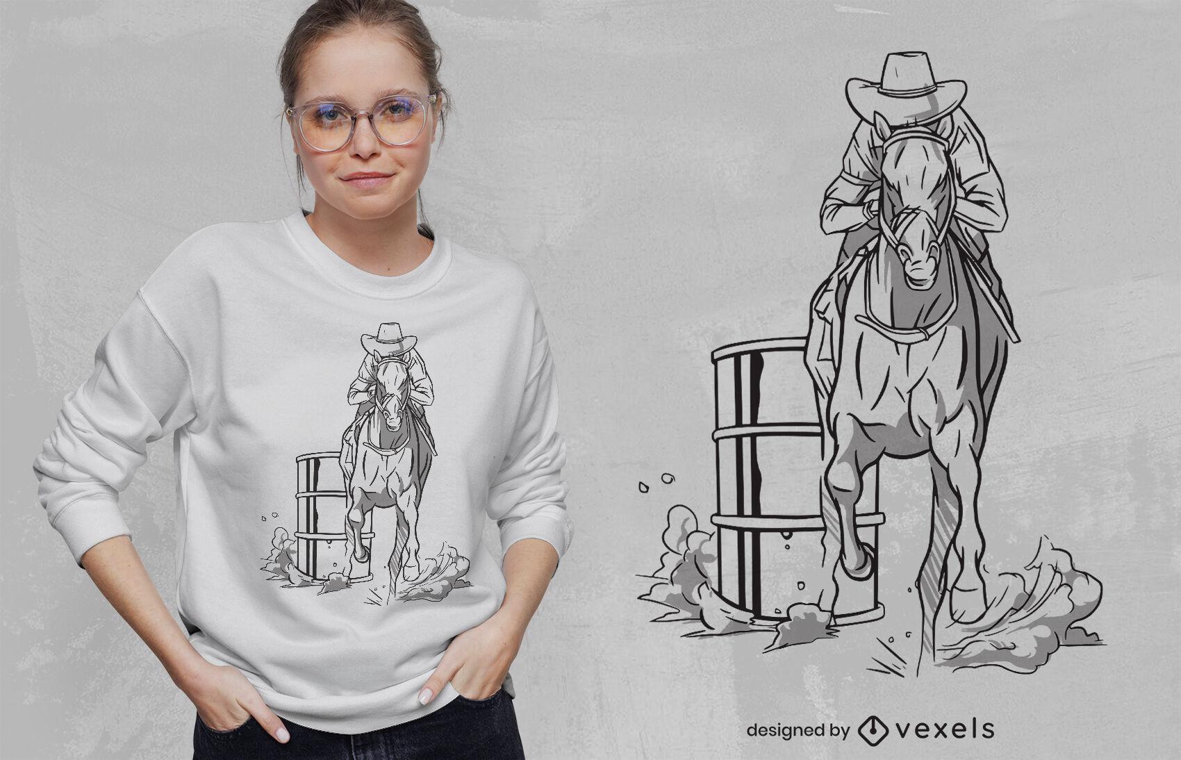 SOLICITAR design de camiseta de caubói