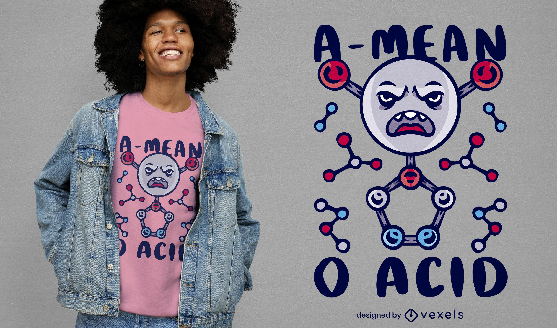 Dise?o de camiseta de ciencia qu?mica ?cida.