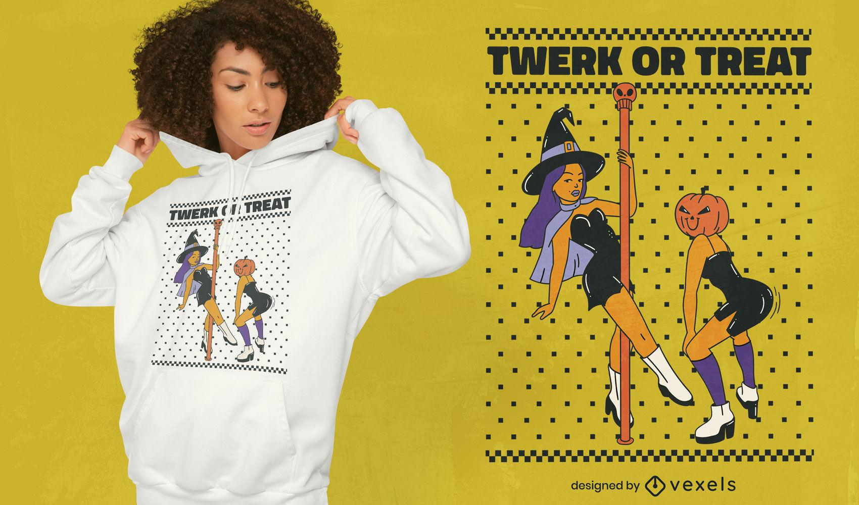Halloween twerk or treat t-shirt design