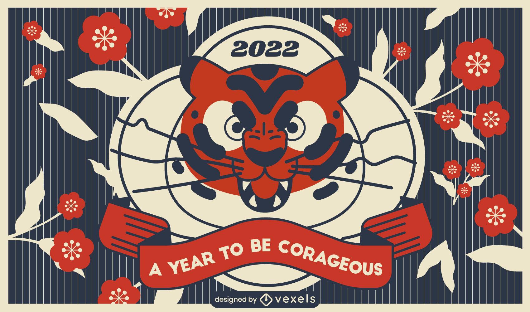 Chinese new year tiger illustration design