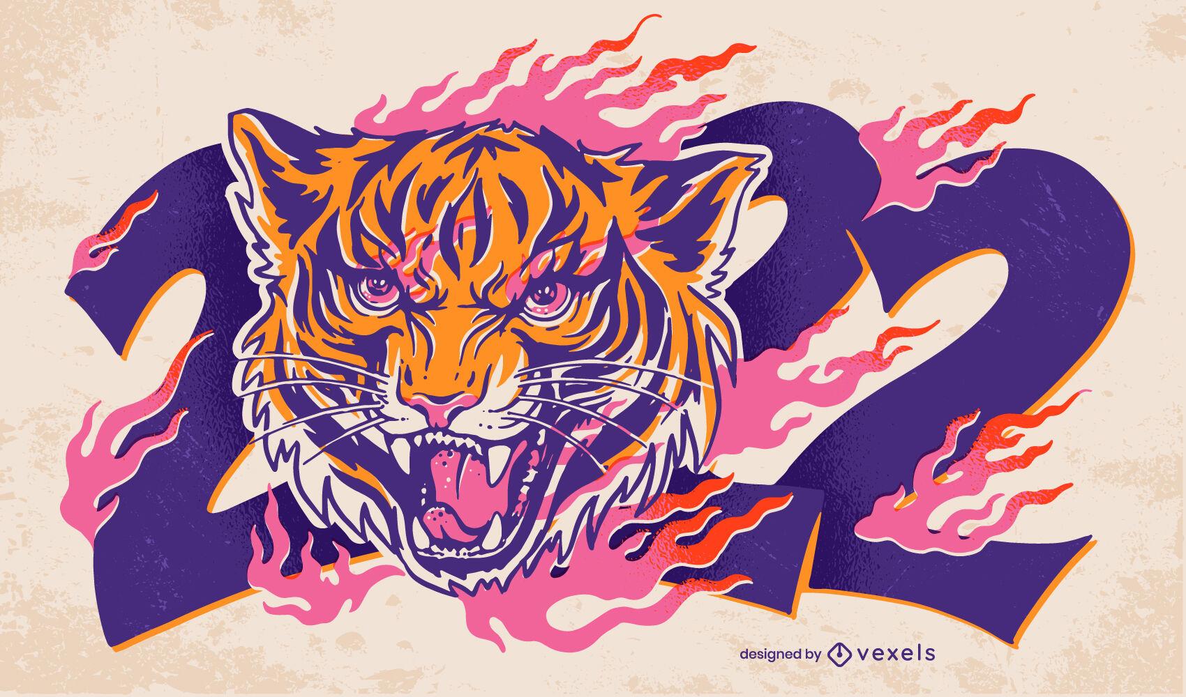 Chinese new year 2022 illustration design