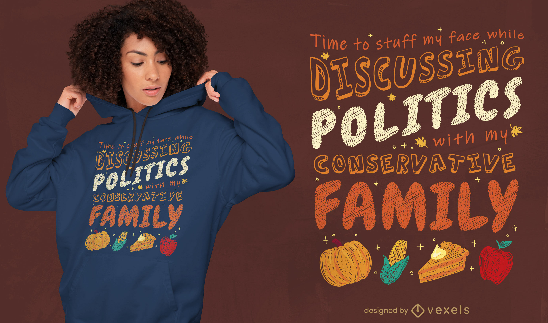 Great anti-thanksgiving t-shirt design