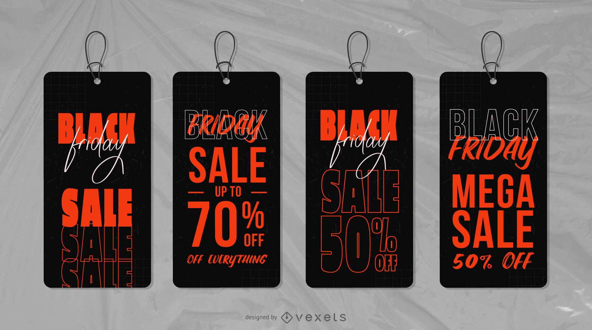 Black friday promotion event tags set