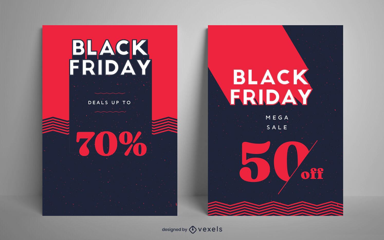 Vorlage f?r Werbeplakate zum Schwarzen Freitag