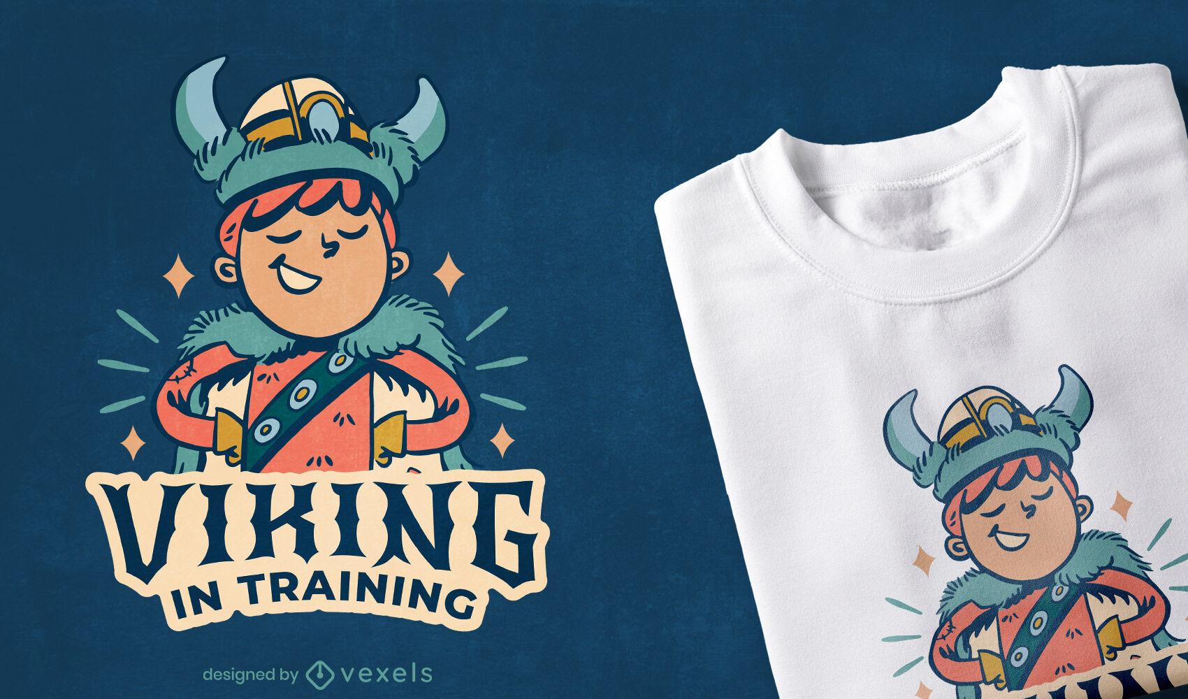 Viking no design de camisetas de treinamento