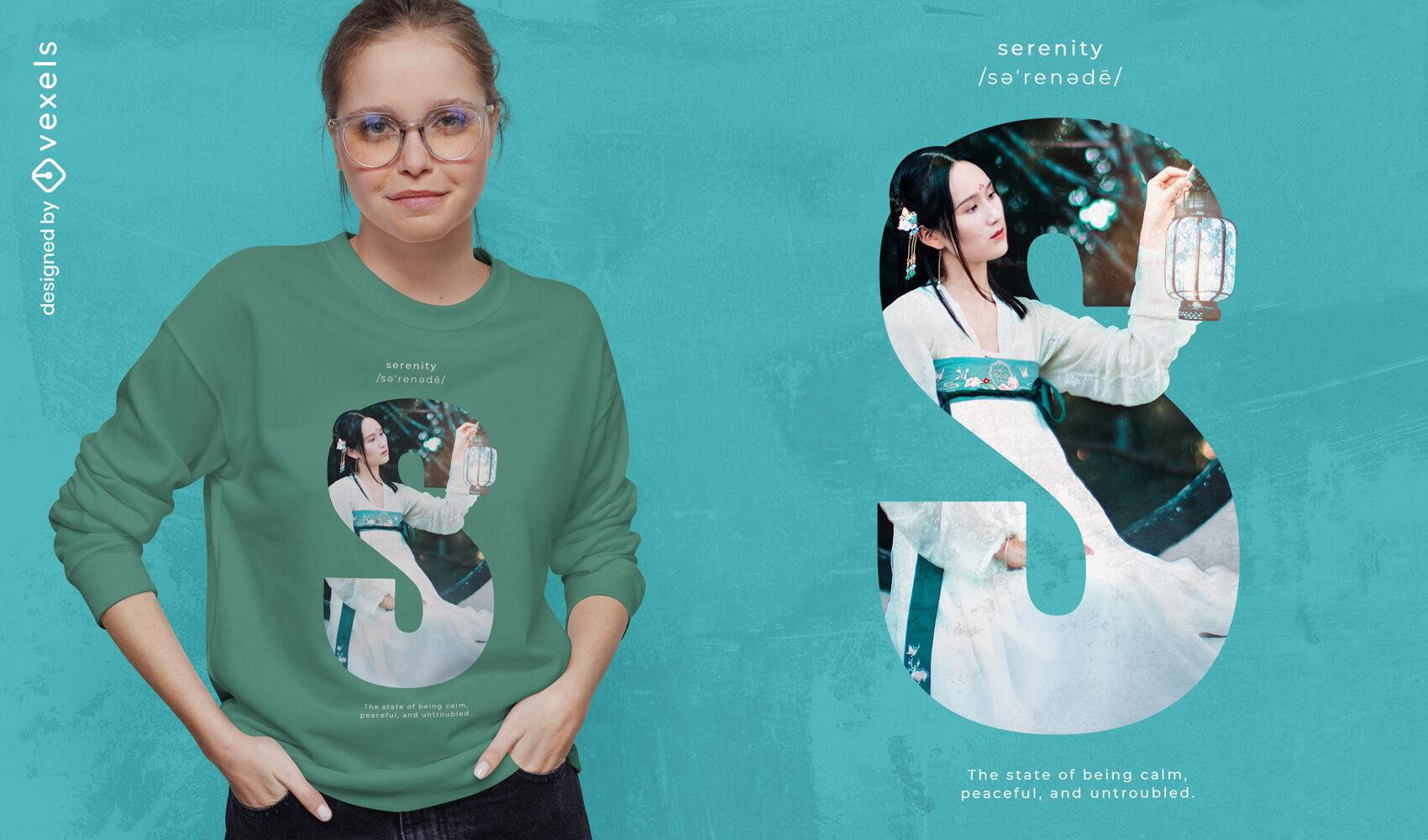 Serenity woman psd t-shirt design