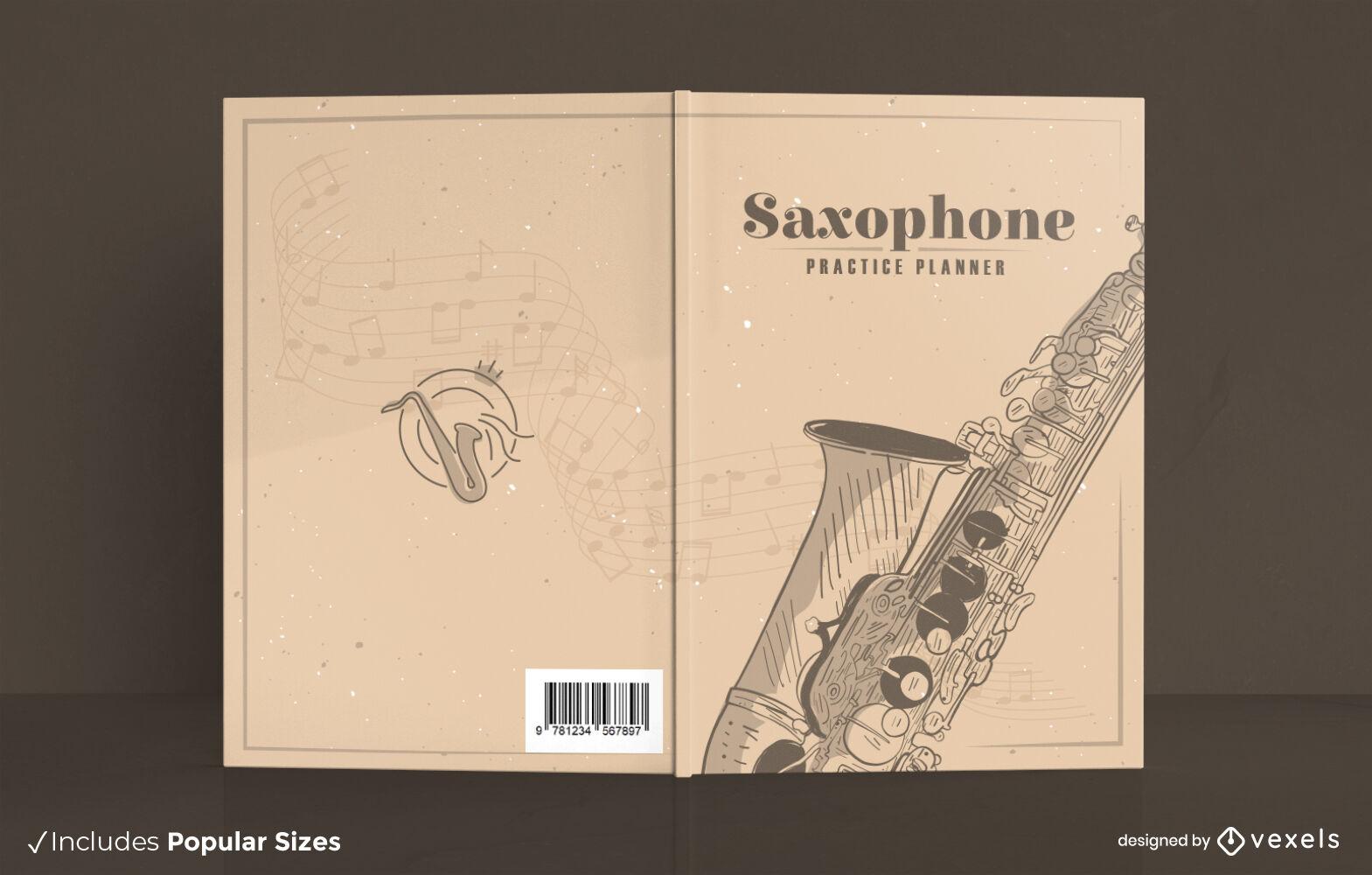 Buchcover-Design f?r Saxophonmusikinstrumente