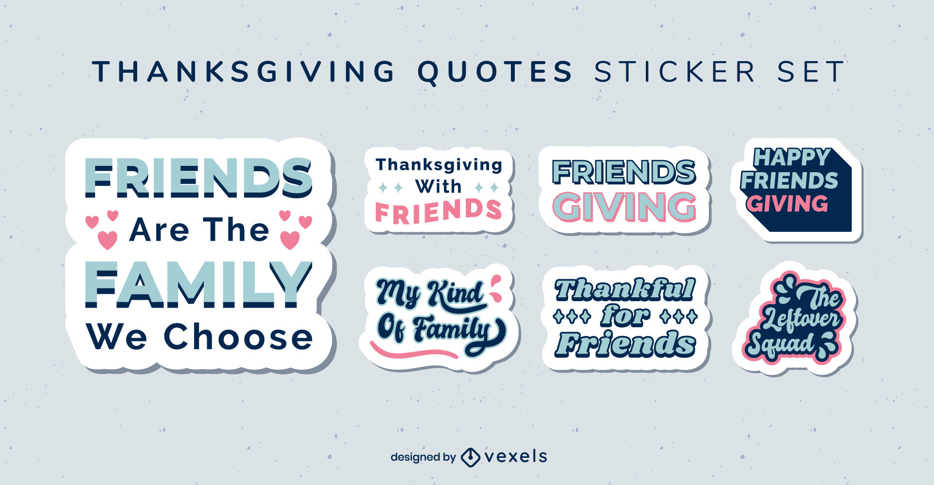 Thanksgiving holiday quotes badge set