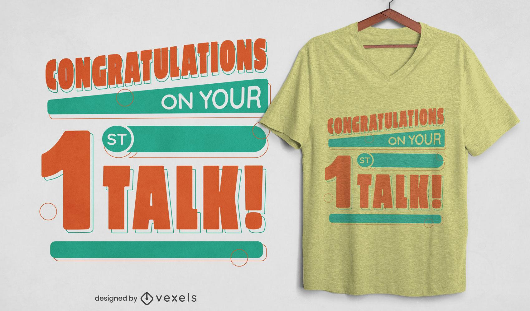Felicitaciones cita diseño de camiseta