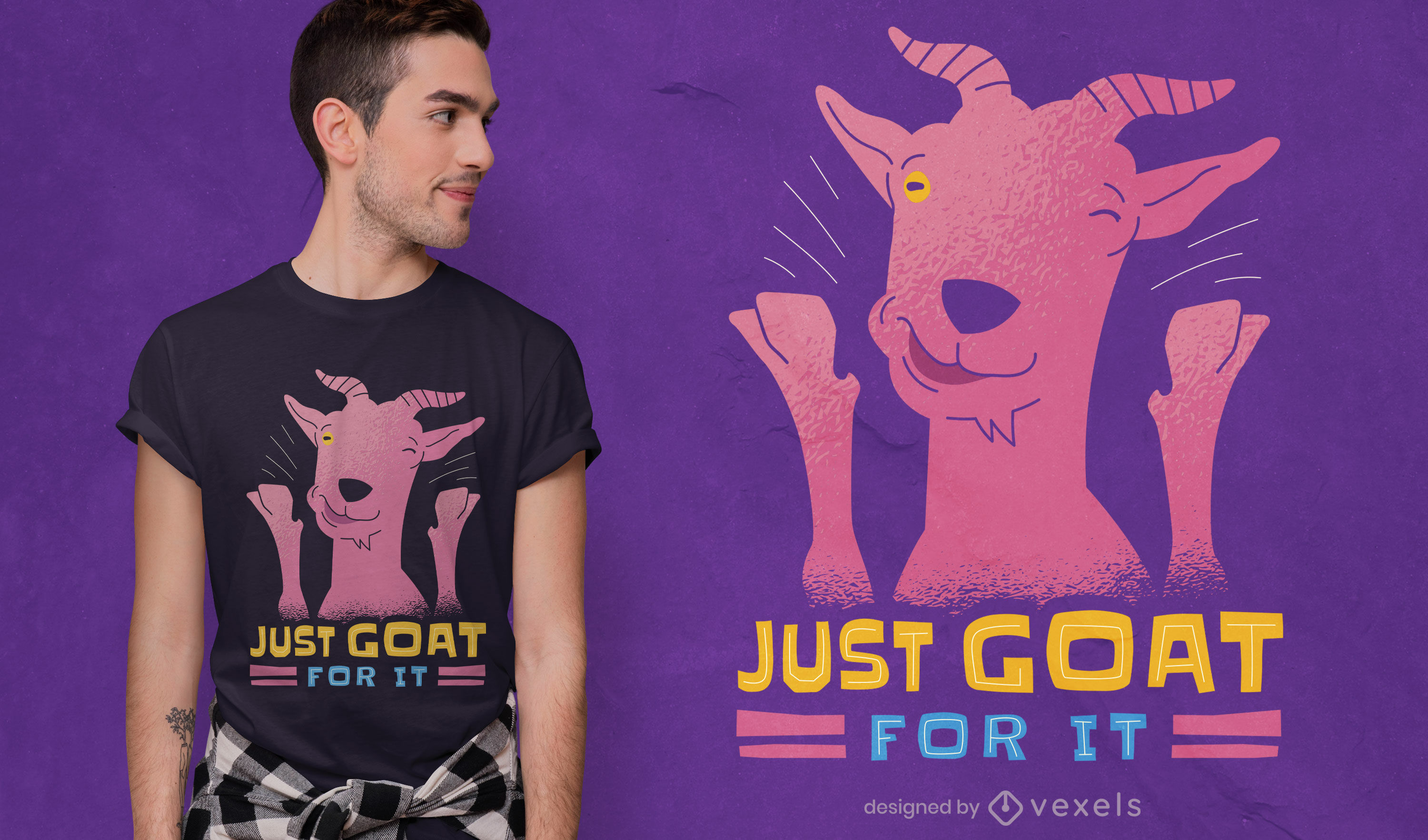 Just goat for it t-shirt design