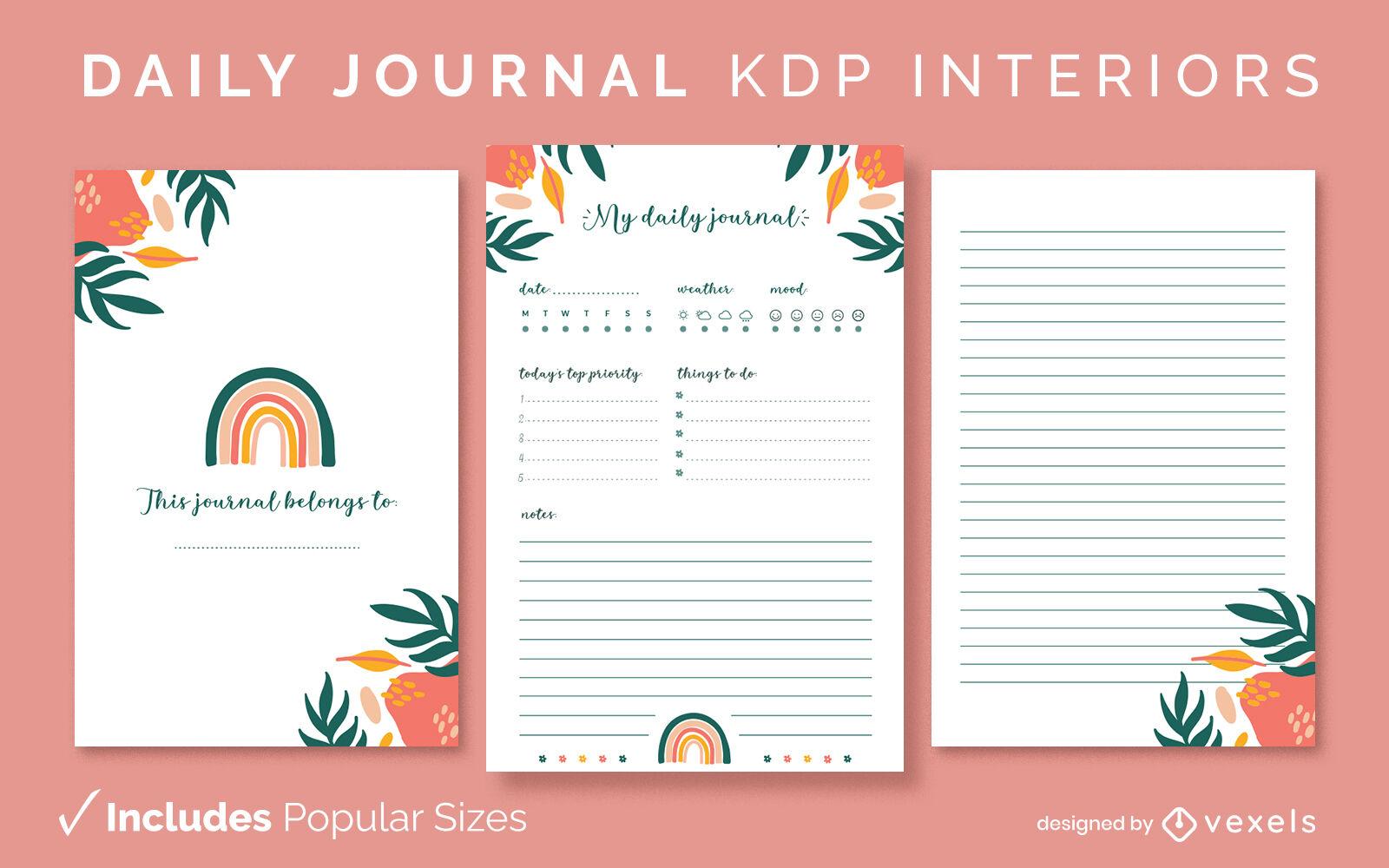 Designvorlage für Naturtagebuch KDP