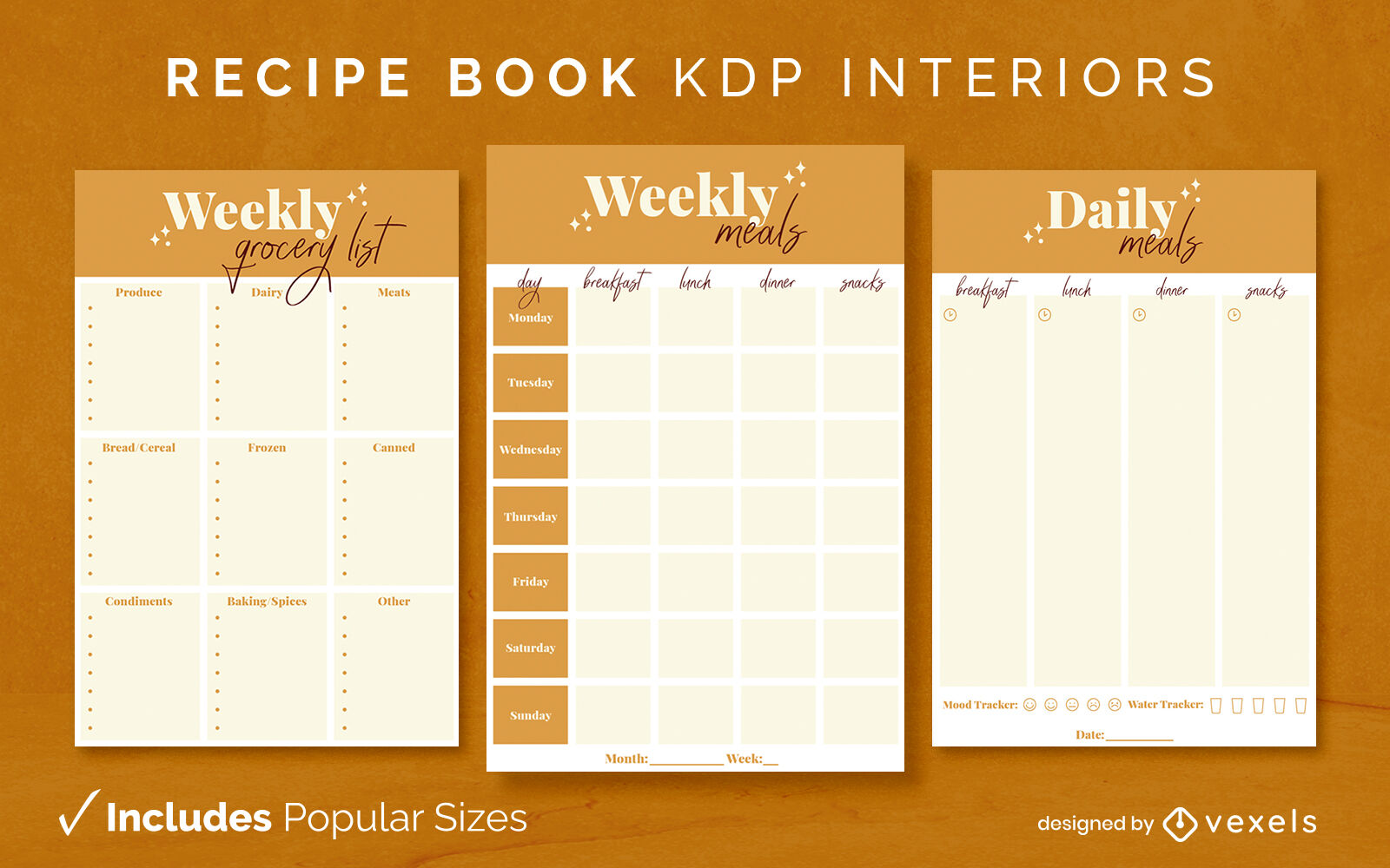 Glitzernde Rezeptbuch-Designvorlage KDP