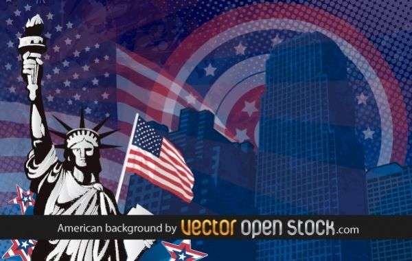 American USA background